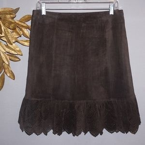 Anthropolgie Elevenses Leather Skirt - Size 4